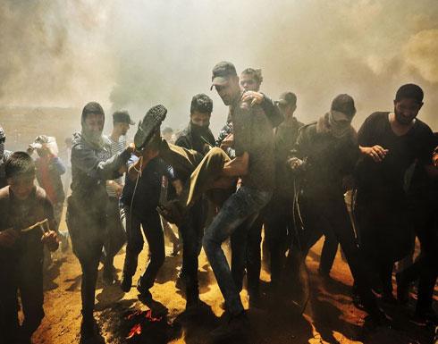 إصابة 115 فلسطينيا برصاص الاحتلال قرب حدود غزة