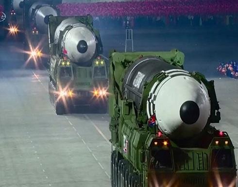 شاهد : كوريا الشمالية تستعرض صاروخا جديدا عابرا للقارات