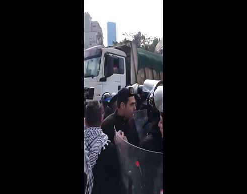 شاهد : صدامات بين محتجين وقوى الأمن في لبنان