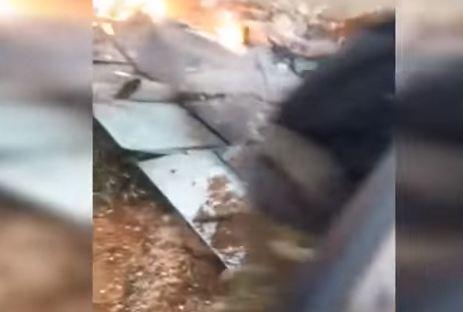 شاهد ... اسقاط طائرة حربية روسية بريف ادلب