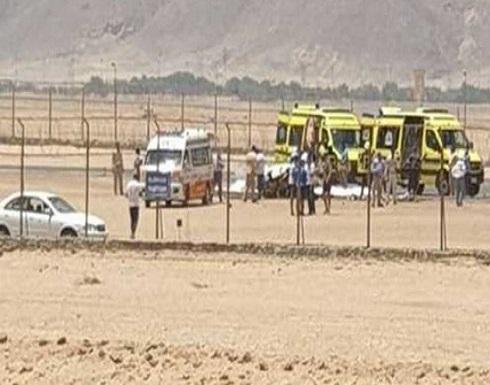 سيارات الإسعاف تهرع.. سقوط طائرة خاصة بمطار الجونة