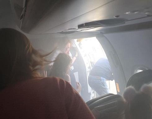 """بالفيديو: """"فيلم رعب حقيقي"""" على طائرة بريطانية"""