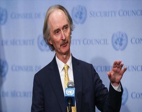 بيدرسون: لا يمكن القبول بمقتل مزيد من المدنيين في إدلب