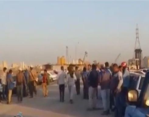 شاهد : إضرابات واسعة في مصافي النفط الإيرانية