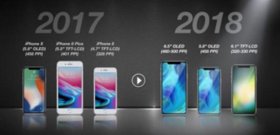 أبل تخطط لإطلاق 3 هواتف آيفون جديدة.. أبرزهم بشاشة لمسية بقياس 6.5 بوصة