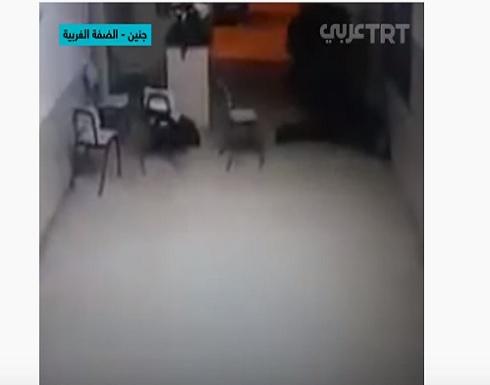 فيديو : لحظة استشهاد شرطي فلسطيني في جنين