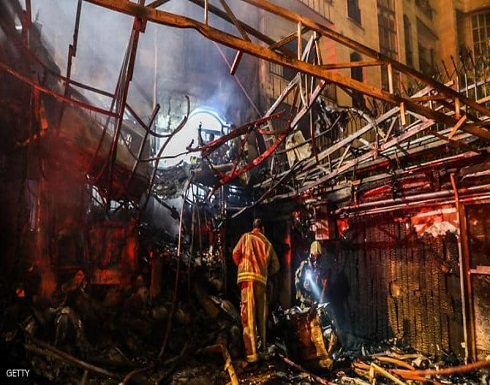 شاهد : انفجار ضخم في طهران يوقع قتيلا وخسائر مادية واسعة