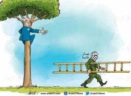 نتنياهو فوق الشجرة!