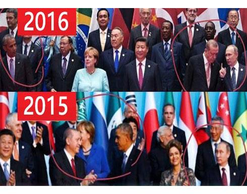 قصة صورتين تبادل فيهما بوتين وأوباما الأدوار مع أردوغان