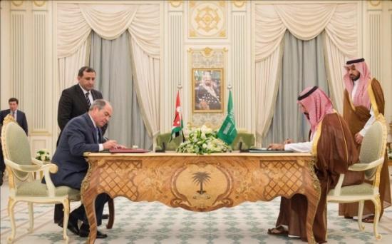 بالصور .. الاردن والسعودية توقعان اتفاقيات تعاون