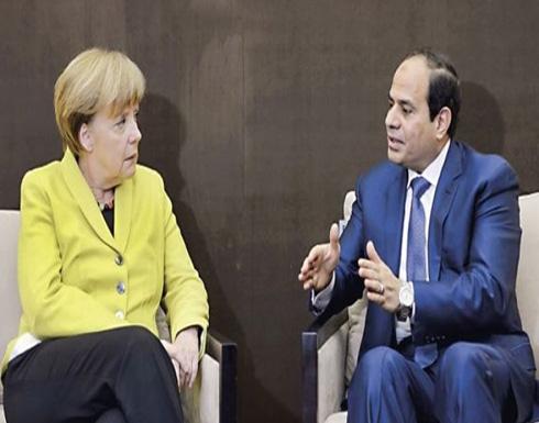 السيسي وميركل يبحثان التعاون في مكافحة الإرهاب