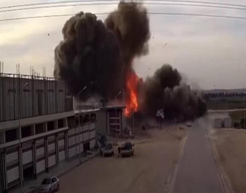 شاهد : قتلى و جرحى بانفجار في مدينة الباب بريف حلب