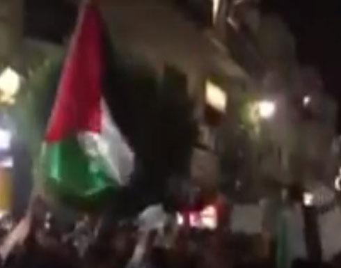 تظاهرات  في رام الله للمطالبة برفع العقوبات عن غزة