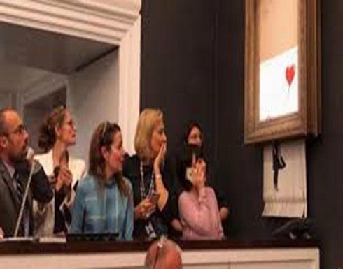 بالفيديو : لحظة تمزق عمل فني بعد بيعه بثوان بمليون جنيه أسترليني