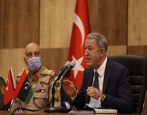 وزير الدفاع التركي: اليونان لن تنجح في إلغاء اتفاقية ترسيم الحدود البحرية بيننا وبين ليبيا
