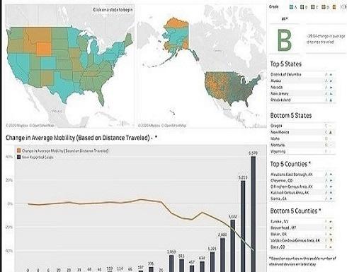 شركة أمريكية تُنشئ خرائط لمدى التزام السكان بالحجر المنزلي