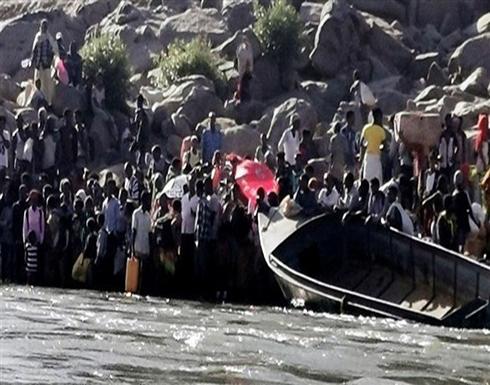 إثيوبيون يفرون من الحرب عبر نهر إلى السودان .. شاهد