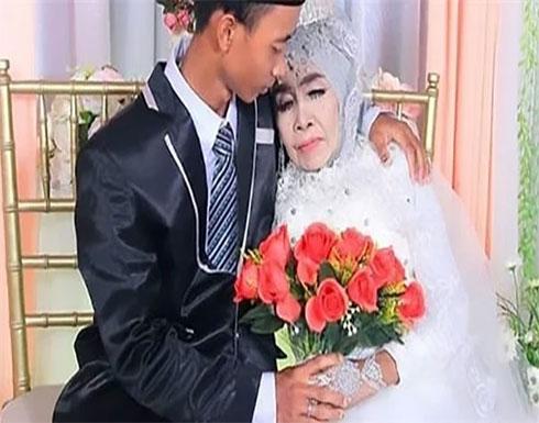 بفارق 41 عاما بينهما.. مسنة تتبنى شابا وتتزوجه بعد فترة.. صور