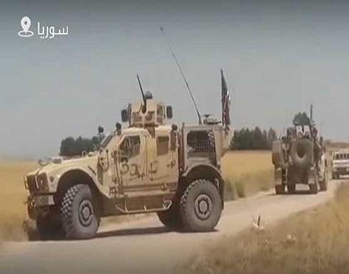 شاهد : الجيش السوري يعترض رتلا للقوات الأمريكية في الحسكة