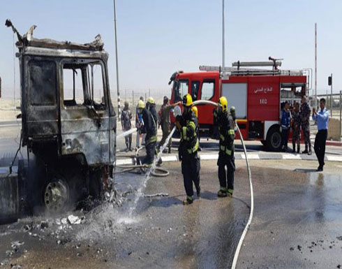 بالصور : قوات فلسطينية وإسرائيلية تشارك بأخماد حرق في الأردن