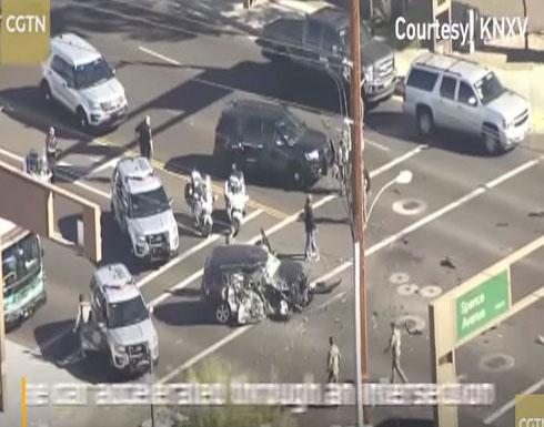 حادث مروع لسيارة تسير بسرعة جنونية على طريقة «Fast and furious»