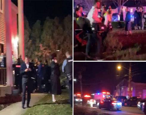 شاهد : إصابة 5 بطعن جماعي استهدف منزل حاخام قرب نيويورك