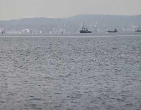 شاهد : سفن أسطول بحر قزوين الروسي تعبر مضيق كيرتش وتدخل البحر الأسود
