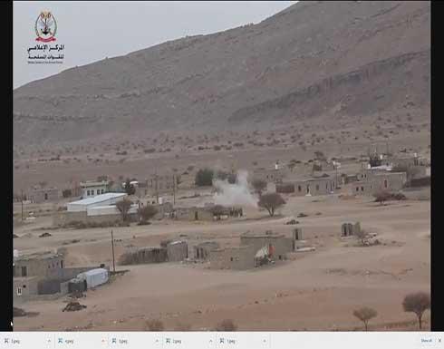 الحوثي يقصف مخيمات النازحين بأسلحة ثقيلة .. بالفيديو