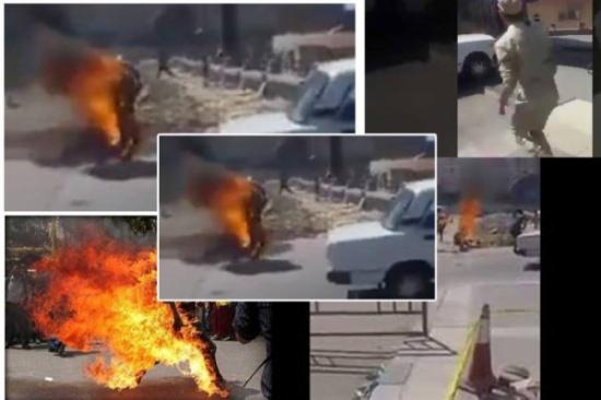 شاب مصري يحرق نفسه بسبب غلاء الأسعار