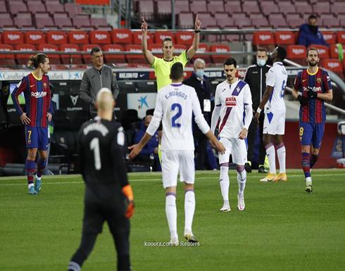 بالصور: برشلونة يتعادل أمام إيبار تحت أنظار ميسي