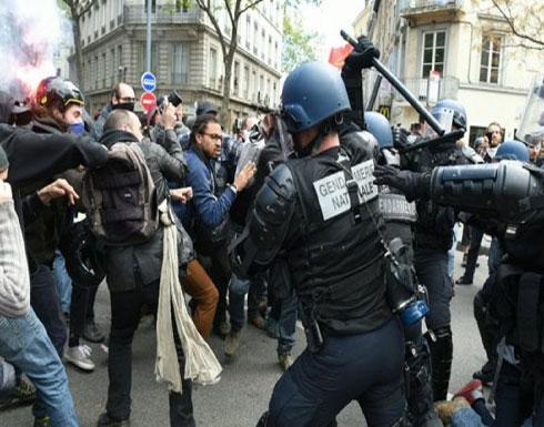 مظاهرات وأعمال شغب في فرنسا احتجاجا على سياسة الحكومة (فيديو)