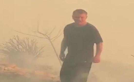 """فيديو .. الملك على """" تويتر """" بعد اخماد حريق الكمالية : شكراً للنشامى"""