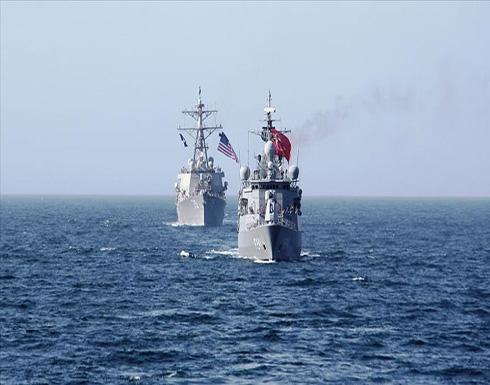 شاهد : تدريبات بحرية تركية أمريكية مشتركة في البحر الأسود