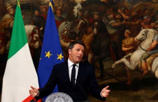 رئيس الوزراء الإيطالي يقر بهزيمته في الاستفتاء ويعلن استقالته