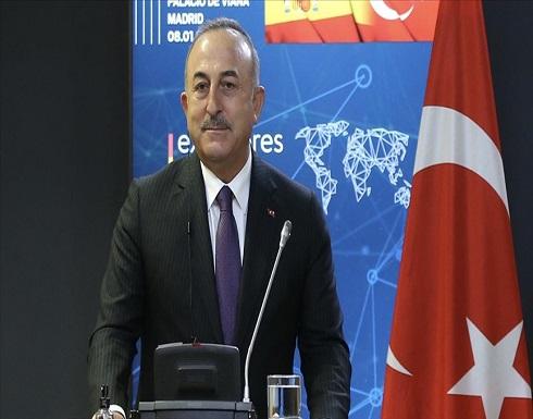 تشاووش أوغلو يدعو إدارة بايدن لرفع العقوبات عن تركيا