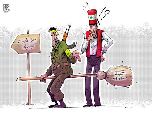 """حزب الله يناور اللبنانيين بـ""""حكومة دياب"""" لحل الأزمة"""