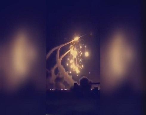 اعتراض صاروخين في سماء الرياض