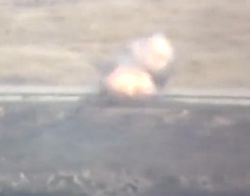 فيديو يظهر تدمير عربة عسكرية لقوات النظام بريف إدلب