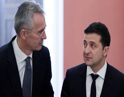 رئيس أوكرانيا يدعو الناتو لتوسيع حضوره في البحر الأسود