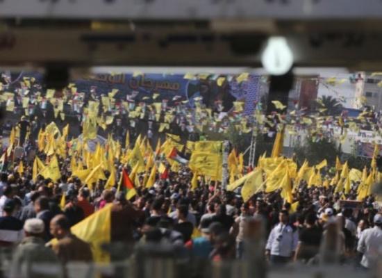 عشرات الآلاف يحيون بغزة ذكرى اغتيال عرفات
