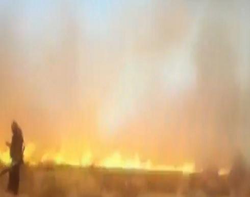 فيديو .. مصادر اسرائيلية : حريق كبير بالقرب من قاعدة للجيش الاسرائيلي في غور الاردن
