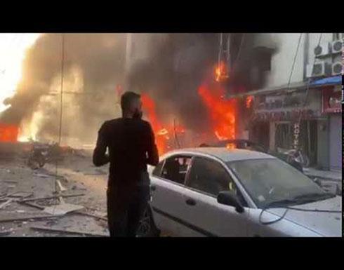 شاهد : التفجيرات الثلاثة التي حصلت اليوم بمدينة القامشلي في سوريا