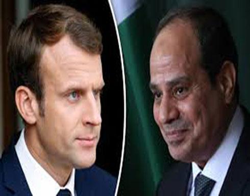 ماكرون والسيسي يبحثان سبل تسوية الملف الليبي سياسيًا