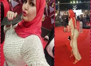 بالفيديو : سما المصري تطل بحجاب احمر في مهرجان القاهرة السينمائي