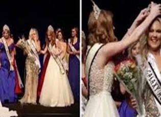 بالفيديو : أم تنافس ابنتها على لقب ملكة جمال