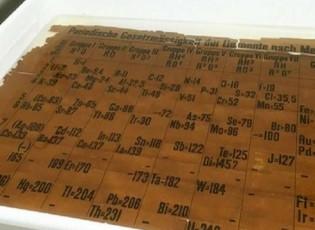 العثور على أقدم نسخة من الجدول الدوري للعناصر الكيميائية