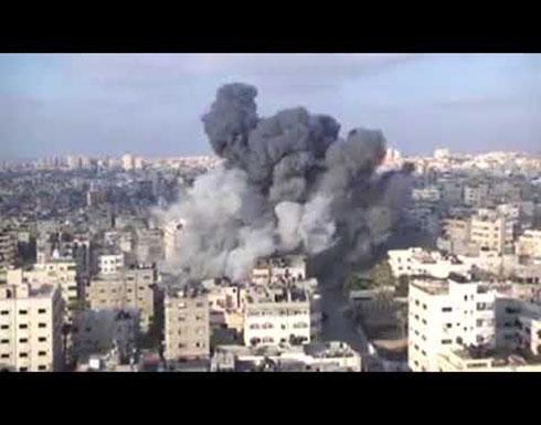 قصف مركز سعيد المسحال وسط قطاع غزة