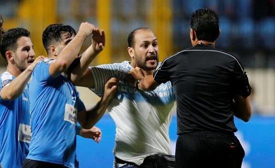 الاتحاد المصري يصدر بيانا بشأن اعتداء الفيصلي على الحكم