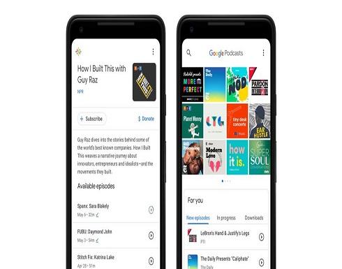 غوغل تُحدّث تطبيقها البودكاست بدعمه لمحوّل حسابات جديد