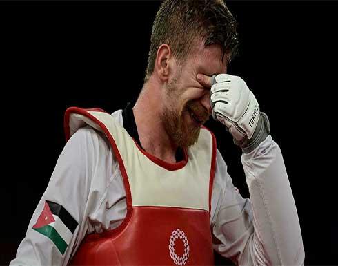 الاردني صالح الشرباتي ينال فضية التايكواندو في أولمبياد طوكيو